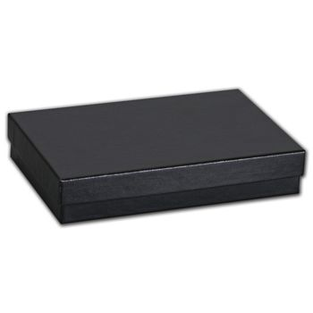 Black Matte Jewelry Boxes, 5 7/16 x 3 1/2 x 1