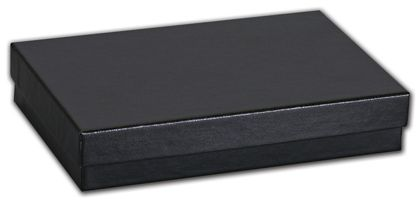 Black Matte Jewelry Boxes, 5 7/16 x 3 1/2 x 1""