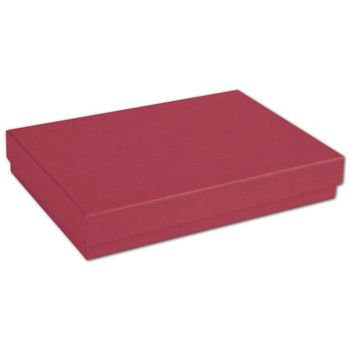 Red Jewelry Boxes, 5 7/16 x 3 1/2 x 1