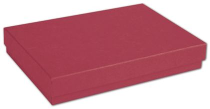 """Red Jewelry Boxes, 5 7/16 x 3 1/2 x 1"""""""