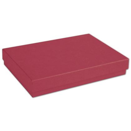 Red Jewelry Boxes, 5 7/16 x 3 1/2 x 1""