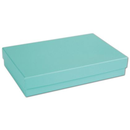 """Aqua Jewel Jewelry Boxes, 5 7/16 x 3 1/2 x 1"""""""