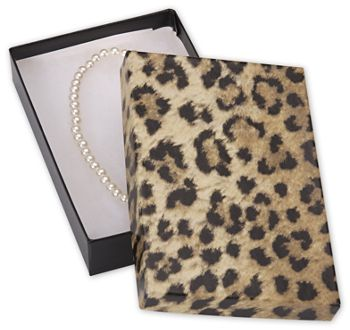 Leopard Jewelry Boxes, 5 7/16 x 3 1/2 x 1