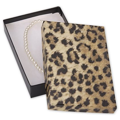 "Leopard Jewelry Boxes, 5 7/16 x 3 1/2 x 1"""