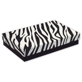 Zebra Jewelry Boxes, 5 7/16 x 3 1/2 x 1