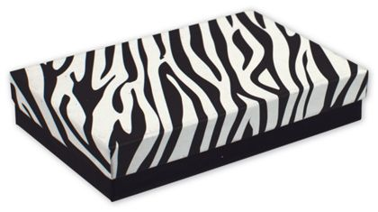 Zebra Jewelry Boxes, 5 7/16 x 3 1/2 x 1""