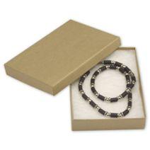 "Natural Kraft Jewelry Boxes, 5 1/4 x 3 3/4 x 7/8"""