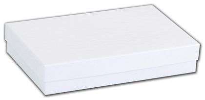 White Krome Jewelry Boxes, 5 7/16 x 3 1/2 x 1""