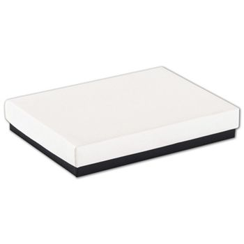 Black & White Jewelry Boxes, 5 1/4 x 3 3/4 x 7/8