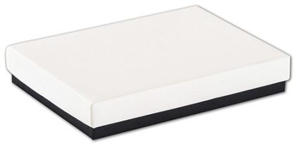 "Black & White Jewelry Boxes, 5 1/4 x 3 3/4 x 7/8"""
