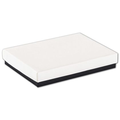 Black & White Jewelry Boxes, 5 1/4 x 3 3/4 x 7/8""
