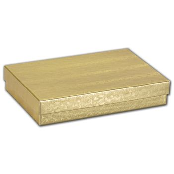 Gold Foil Embossed Jewelry Boxes, 5 7/16 x 3 1/2 x 1