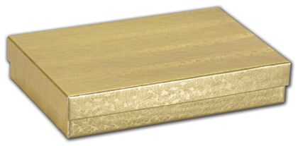 """Gold Foil Embossed Jewelry Boxes, 5 7/16 x 3 1/2 x 1"""""""