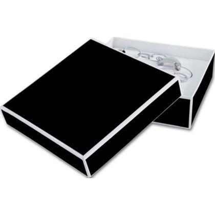 "Bookman Black Jewelry Boxes, 5 x 5 x 1 1/2"""