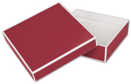Bridge Red Jewelry Boxes, 5 x 5 x 1 1/2""