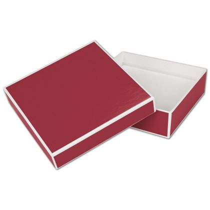 """Bridge Red Jewelry Boxes, 5 x 5 x 1 1/2"""""""