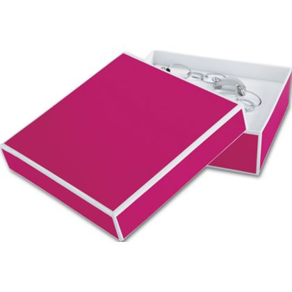 Fillmore Fuchsia Jewelry Boxes, 5 x 5 x 1 1/2""