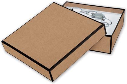 """Kraft Jewelry Boxes, 5 x 5 x 1 1/2"""""""