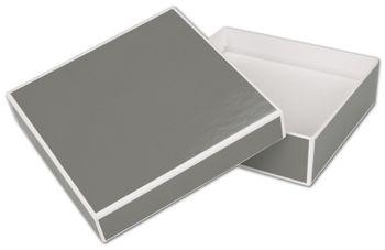 Slate Grey Jewelry Boxes, 5 x 5 x 1 1/2