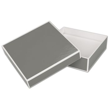 Slate Grey Jewelry Boxes, 5 x 5 x 1 1/2