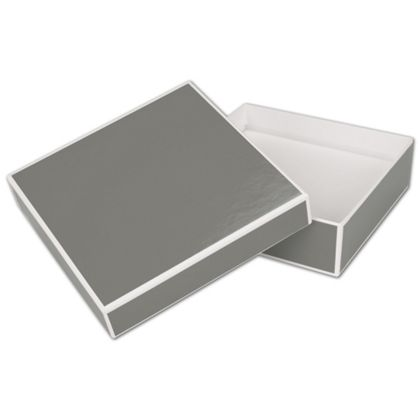 Slate Grey Jewelry Boxes, 5 x 5 x 1 1/2""
