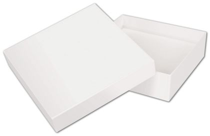 Solid White Jewelry Boxes, 5 x 5 x 1 1/2""