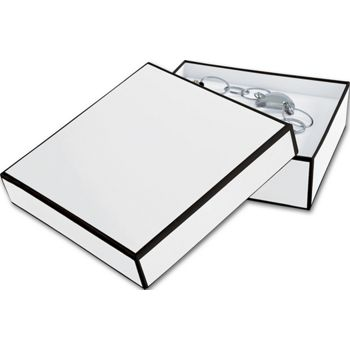 Whiteboard White Jewelry Boxes, 5 x 5 x 1 1/2
