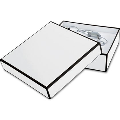 Whiteboard White Jewelry Boxes, 5 x 5 x 1 1/2""