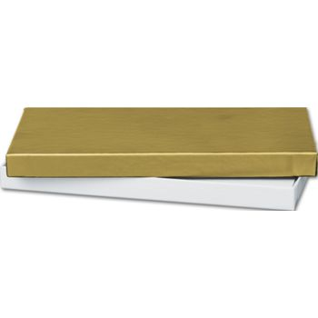 Gold Gift Certificate Boxes, 6 5/8 x 3 1/4 x 5/8