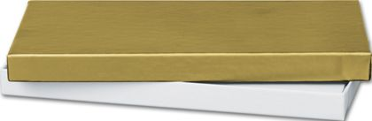 Gold Gift Certificate Boxes, 6 5/8 x 3 1/4 x 5/8""