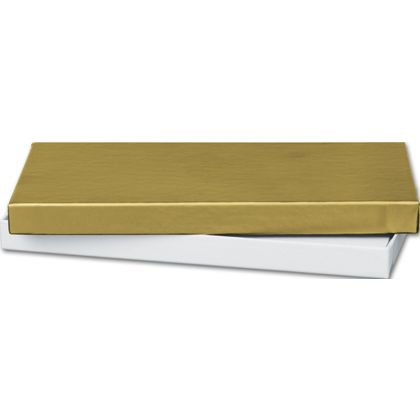 """Gold Gift Certificate Boxes, 6 5/8 x 3 1/4 x 5/8"""""""