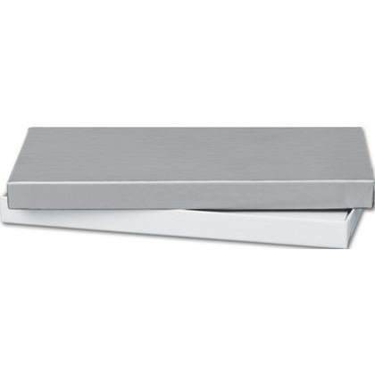 Silver Gift Certificate Boxes, 6 5/8 x 3 1/4 x 5/8""