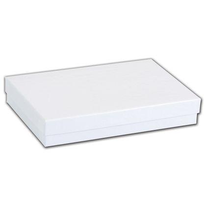 "White Krome Jewelry Boxes, 6 x 4 x 1"""