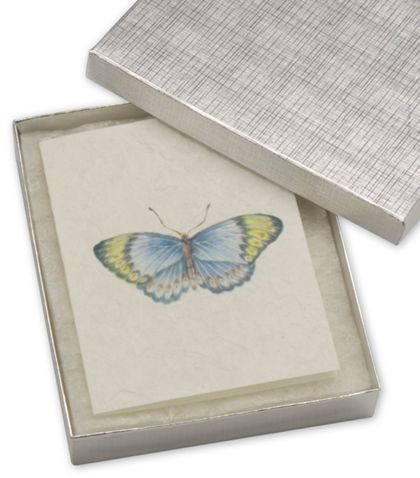 """Silver Linen Jewelry Boxes, 6 x 5 x 1"""""""
