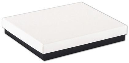 "Black & White Jewelry Boxes, 6 x 5 x 1"""