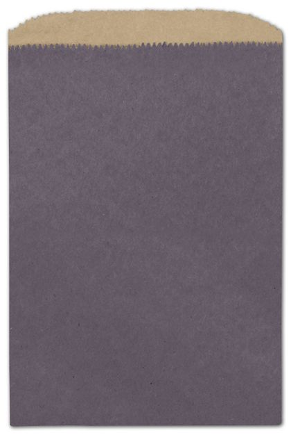 Plum Color-on-Kraft Merchandise Bags, 6 1/4 x 9 1/4""