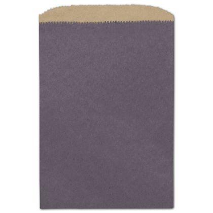 "Plum Color-on-Kraft Merchandise Bags, 6 1/4 x 9 1/4"""