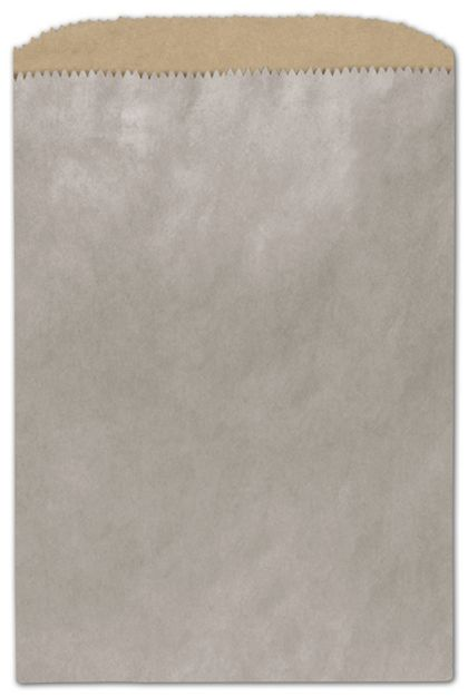 Metallic Silver Color-on-Kraft Merchandise Bags, Small