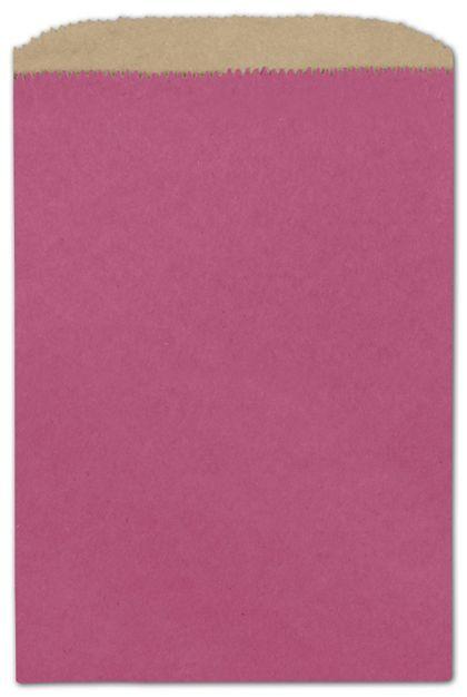 """Cerise Color-on-Kraft Merchandise Bags, 6 1/4 x 9 1/4"""""""