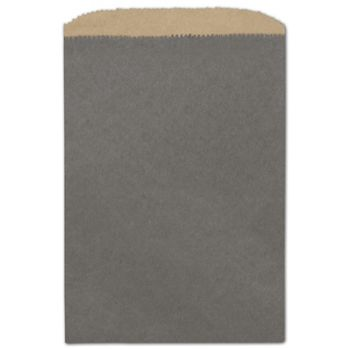 Storm Grey Color-on-Kraft Merchandise Bags, 6 1/4 x 9 1/4