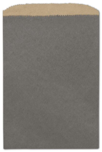 Storm Grey Color-on-Kraft Merchandise Bags, 6 1/4 x 9 1/4""