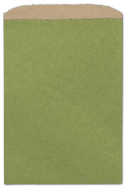 Rainforest Green Color-on-Kraft Merchandise Bags, Small