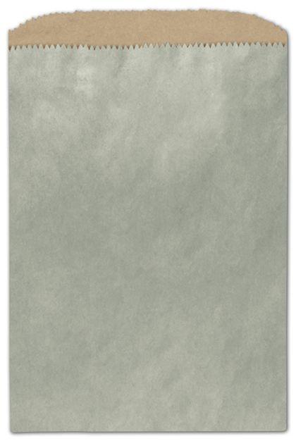 Metallic Sage Color-on-Kraft Merchandise Bags, 6 1/4x9 1/4