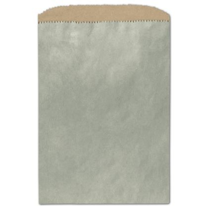 Metallic Sage Color-on-Kraft Merchandise Bags, 6 1/4x9 1/4