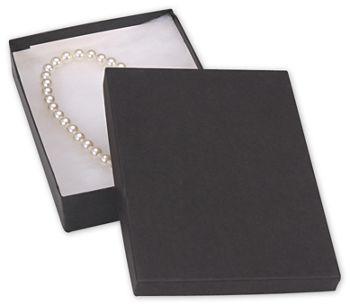 Black Jewelry Boxes, 7 x 5 x 1 1/4