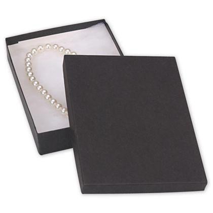 "Black Jewelry Boxes, 7 x 5 x 1 1/4"""