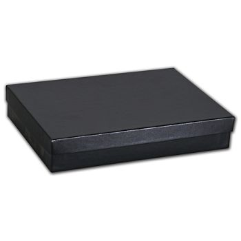 Black Matte Jewelry Boxes, 7 x 5 x 1 1/4