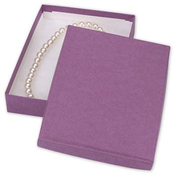 Purple Jewelry Boxes, 7 x 5 x 1 1/4