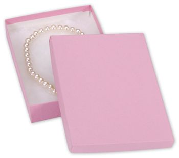 Pink Kraft Jewelry Boxes, 7 x 5 x 1 1/4