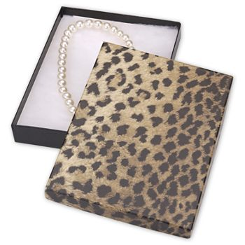 Leopard Jewelry Boxes, 7 x 5 x 7/8